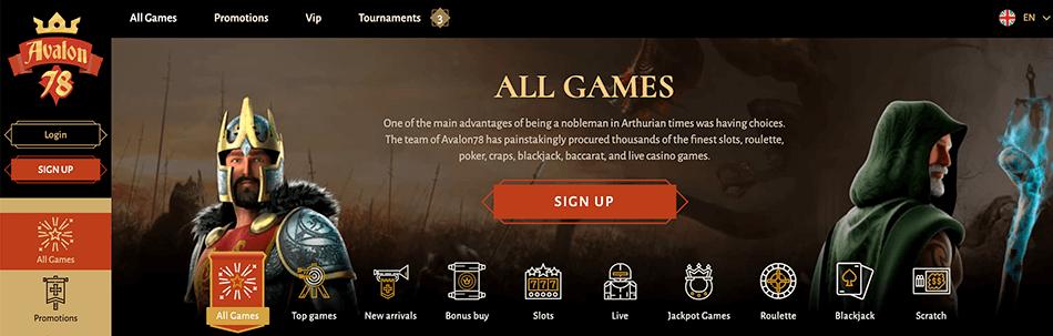 Ontdek alle spellen van Avalon