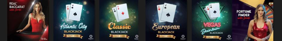 Online tafelspellen casino